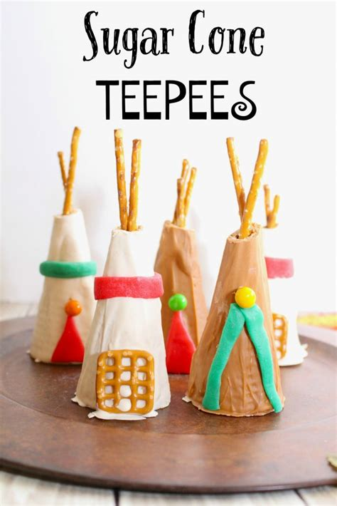 sugar cone teepee kids thanksgiving party recipe