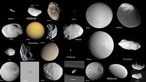 Saturn's Moons as Seen by Cassini - YouTube