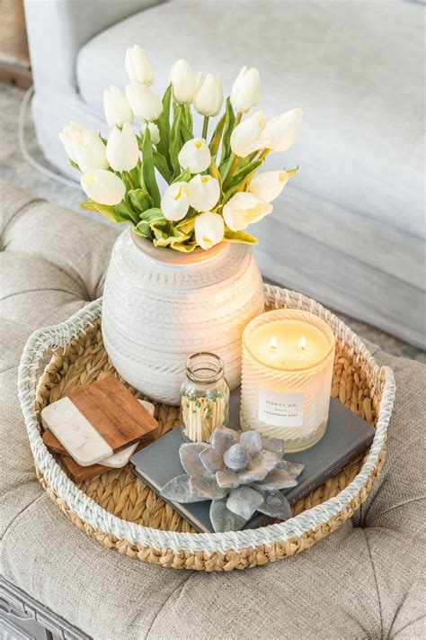 Wonderful loft living room decorating 2019 wholesale silk screen square clear acrylic side tables living room acrylic folding table for home decoration from likelee1991 58 3 dhgate com. Simple Spring Home Tour ~ Spring Coffee Table Decor | Table decor living room, Spring home decor ...
