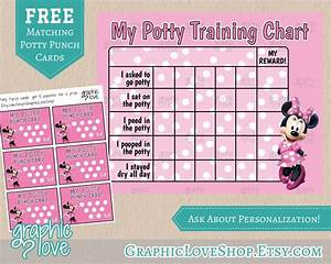 Minnie Mouse Potty Training Chart And Free Punch Cards