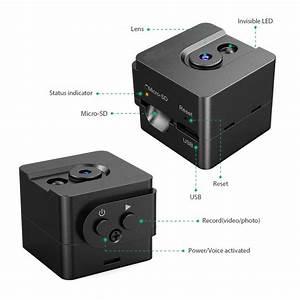 Mini Spy Cam Hidden Camera 720p Portable Small Nanny Cam