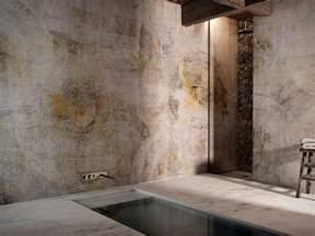 badewanne rustikal badezimmer tapete waschbares vinyl als schmuckstück für die wände