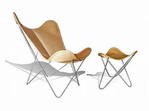 Butterfly Chair Original : poltrona in pelle con poggiapiedi hardoy butterfly chair original by weinbaum ~ Sanjose-hotels-ca.com Haus und Dekorationen
