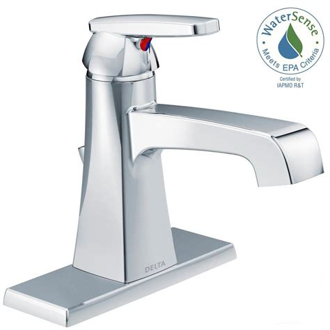 delta single bathroom faucet delta ashlyn single single handle bathroom faucet