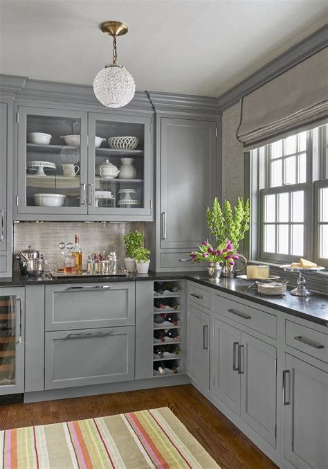 grey kitchen cabinets with black countertops 1970s kitchen turned major multitasker home ideas 8359