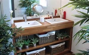 Salle De Bain En Bois : meubles de salle de bain en bois massif zen atlantic bain ~ Dailycaller-alerts.com Idées de Décoration