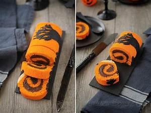 Gateau D Halloween : g teau roul d 39 halloween in 2019 halloween snack gateau halloween halloween dessert halloween ~ Melissatoandfro.com Idées de Décoration
