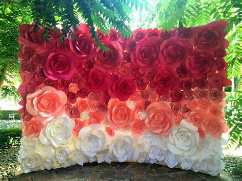 ombre paper flower wedding backdrop wedding ot miogallery