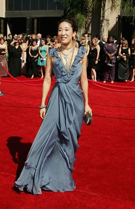 sandra oh red dress designer 17 best images about celebrities sandra oh on pinterest