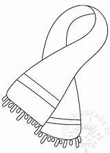 Sciarpa Colorare Lana Scarf Wool Disegni Coloring Disegno Winter Istitutocomprensivoalia sketch template