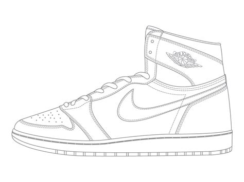 Coloring Nike Air 1 by Nike Shoe Drawing At Getdrawings Free For Personal