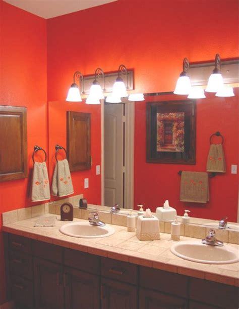 modern bathroom paint ideas 11 best images about orange bathrooms on oak