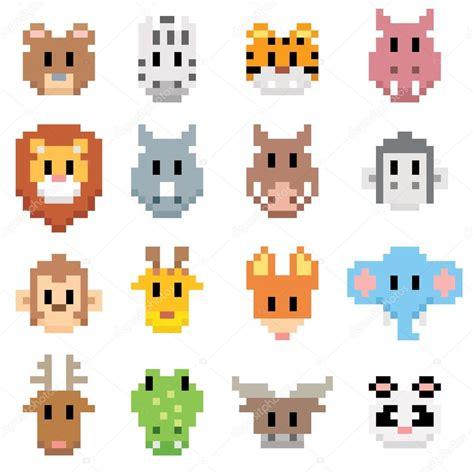 pixel de dessin anime animaux image vectorielle sararoom