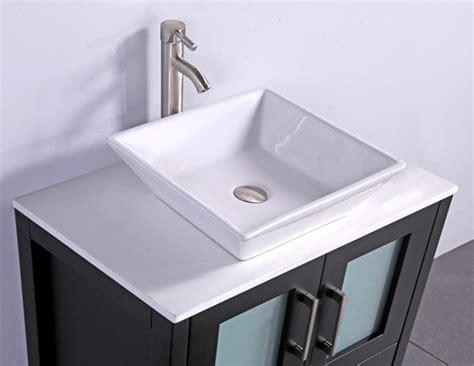Legion Inch Modern Vessel Sink Bathroom Vanity Espresso