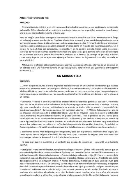 CINEFILO - Fragmentos de un mundo feliz de ALDOUS HUXLEY