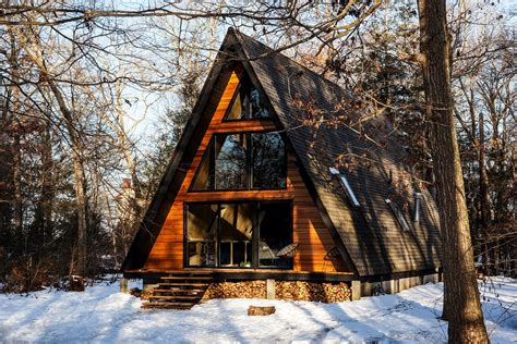 Get Cozy In This Renovated Aframe Cabin In The Woods Dwell