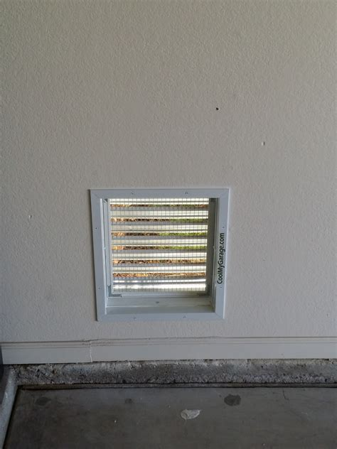 vent fan intake wall air ventilation through motor replacement garage screen whole cool aluminum rated parts entering rust incests prevents
