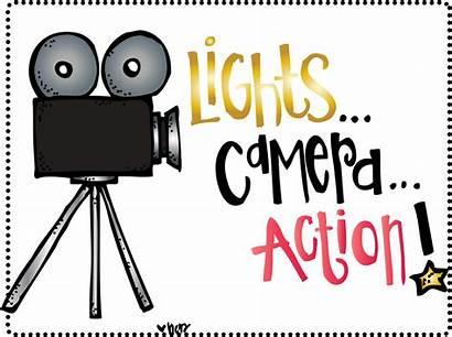 Action Clipart Camera Lights Hollywood Melonheadz Transparent