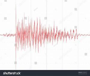 Earthquake Wave Graph Chart Seismograph Audio Stock Vector