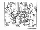 Coloring Supermarket Preschool Grocery Kleurplaat Drawing Winkel Pages Kleuteridee Nl Getdrawings Theme Center Thema Kleuters Supermarkt sketch template