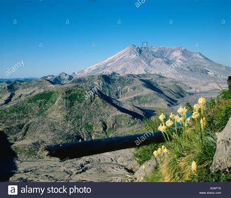 Mt St Helens Post Eruption Washington State Usa Cascades