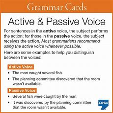 Active & Passive Voice Completely Learning With Examples  English Hold