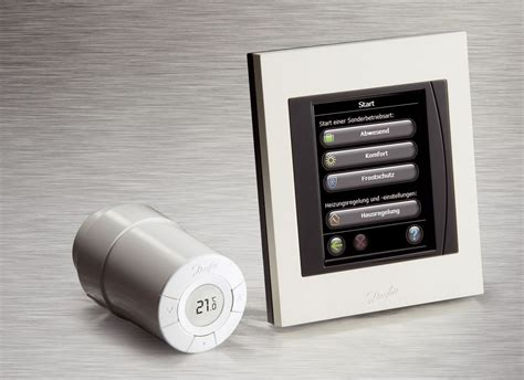 fußbodenheizung thermostat funk thermostate living by danfoss tga fachplaner