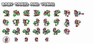 Super Mario World 2 Sprites - The Good Guys (SNES)