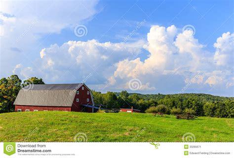 Farm At Sunset Stock Image Image 33265671
