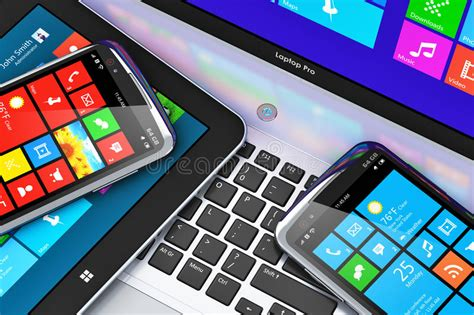 Mobile Devices With Touchscreen Interface Stock
