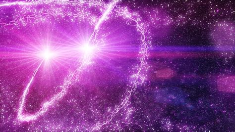 Magical Fairy Dust Light Particles Purple Background Stock