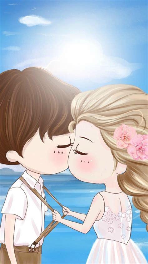 小薇的世界光 插画 壁纸 情侣 Chibi Couple Cute Love Cartoons Cute