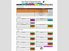 Crystal P Fitness and Food 80 Day Obsession Meal Planner