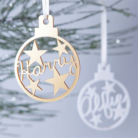 personalised star christmas bauble decoration  clouds