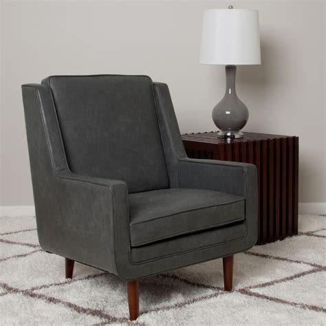 moss oxford leather grey accent chair contemporary