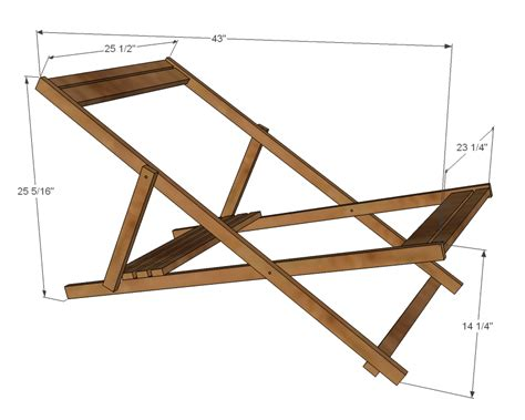 Ana White  Wood Folding Sling Chair, Deck Chair Or Beach