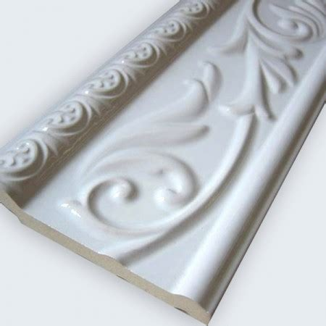 Fliesen Bordüre Weiß by Ceramic Wall Border 10x30cm White Glossy