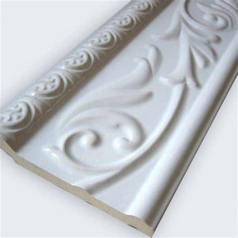 wall tile borders keramik wandbordüre 10x30cm weiß glänzend