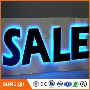 sale sign black painted stainless steel led backlit With channel letters for sale