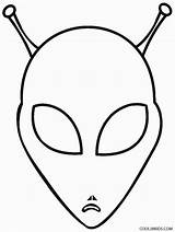Alien Coloring Pages Printable Space Aliens Head Cool2bkids Colouring Template Printables Print Drawing Books Discover sketch template