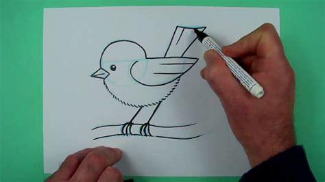 vogel zeichnen mit genauer anleitung zeichnen fuer kinder