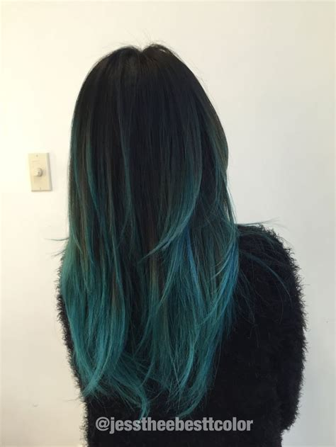 Mary Cake Blue Teal Ombre Balayage By Jessica Gonzalez In