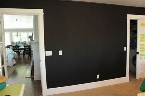 The Walls Are Painted In Black #Matte #Black #Paint #For #Walls