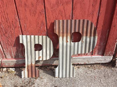 corrugated metal letters large corrugated metal letters pleasing corrugated tin
