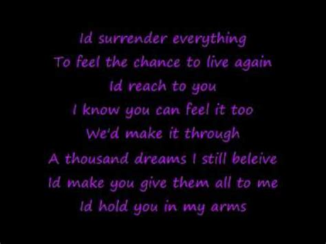 celine dion  surrender  lyrics youtube