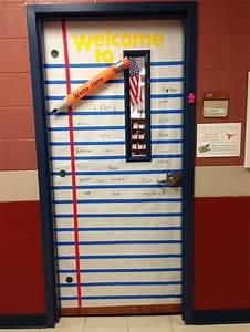 classroom door idea pencil made from pool noodle