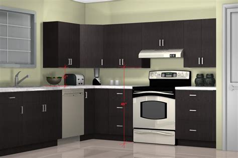 optimal kitchen wall cabinet height