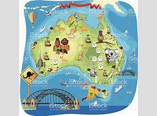 Cartoon Map Of Australia stock vector art 165909577 iStock