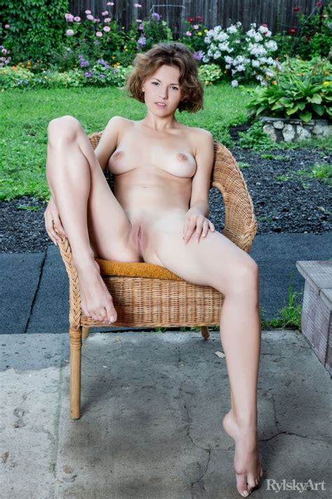Naked Teen In A Patio Chair