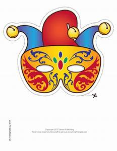 printable mardi gras jester mask mask With jester mask template